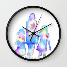 Mother and Daughters Wall Clock