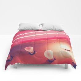 Pink Neon Glow Comforters
