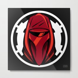 Red Guard Illustration Metal Print
