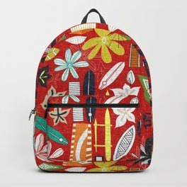 beachy red Backpack