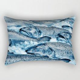 Market Fresh Salmon by Crow Creek Cool Rectangular Pillow