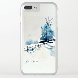 Winter Pond Clear iPhone Case