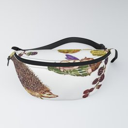 """""""Blackberry Thief"""" by M. Sowerby (1924) Fanny Pack"""