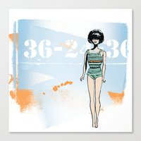 barbie Canvas Prints featuring Barbie by Michelle Krasny
