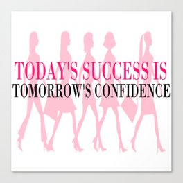 Success & Confidence Canvas Print