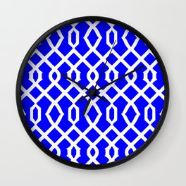 Grille No. 3 -- Blue Wall Clock