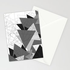 Triangle Grey Stationery Cards