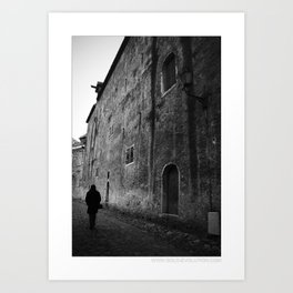 ... the day before yesterday ... Art Print