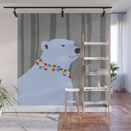 Polar Bear Holiday Design Wall Mural
