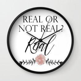 Real or not Real Wall Clock