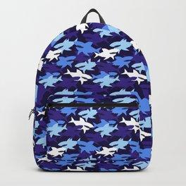 Blue Sharks Camouflage Pattern Backpack