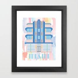 Miami Landmarks - Marlin Framed Art Print