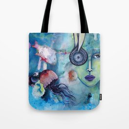 Waterworld: Blue Tote Bag