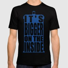 Bigger on the Inside MEDIUM Black Mens Fitted Tee