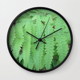 Fern Symmetry Wall Clock