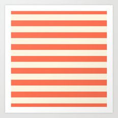 Papaya Stripes  Art Print