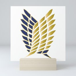 Wings Of Freedom - Gold Edition (Premium) Mini Art Print