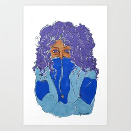 Purple Curls Art Print