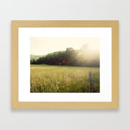 Morning in Cades Cove Framed Art Print