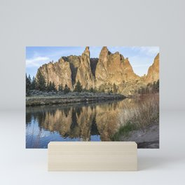 Reflection of Smith Rock in Crooked River Mini Art Print