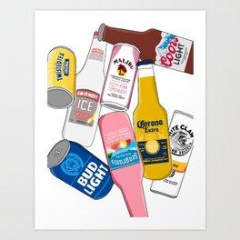 Bottoms Up! Art Print