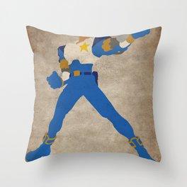 Commanding Captain (Captain Commando) Throw Pillow