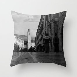 Marble Gutter Throw Pillow