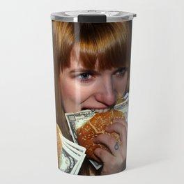 Eating Money Travel Mug