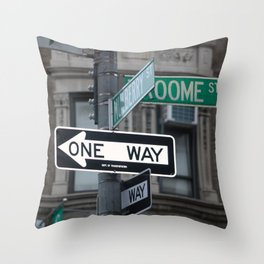 Between Mulberry and Broome Streets - NYC Throw Pillow