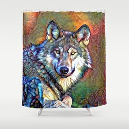 Aura of the Wolf Shower Curtain