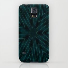 Teal Forest Green Snowflake iPhone Case