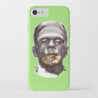 frankenstein iPhone & iPod Cases featuring Frankenstein by beart24