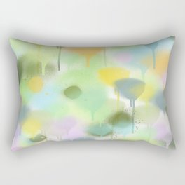 Dripping paint abstract in pastel colors Rectangular Pillow