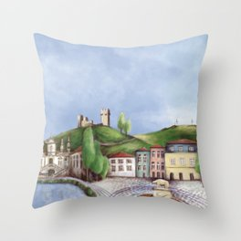 Vila Real landscape Throw Pillow