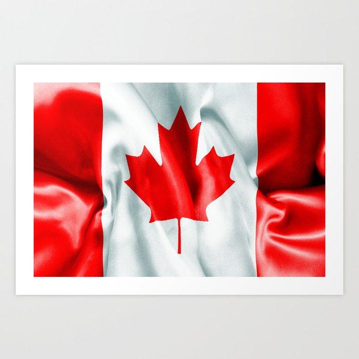 Canada Flag Art Print By Markuk97