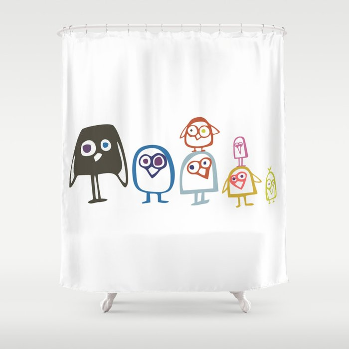 Art Print Home Decor Children Nursery Baby Infant Wall Graphic Design Angry Birds Color Pyramid Shower Curtain