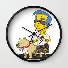chicano cartoon simpson milhouse Wall Clock