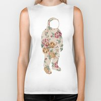 neil gaiman Biker Tanks featuring Floral Neil  by Grafity Apparel