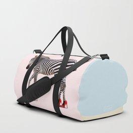 HIGH HEEL ZEBRA Duffle Bag