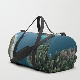 Lakeside Views at Sunset - Landscape Photography Duffle Bag