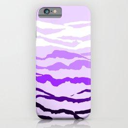 Lilac Mountain Range iPhone Case