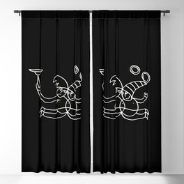 Twins Jugglers in Black Blackout Curtain