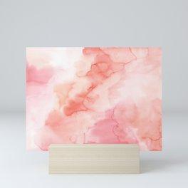 Warm pink waters Mini Art Print
