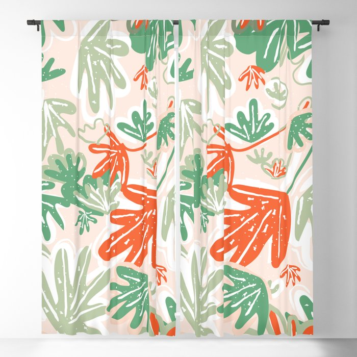 Tropical Abstract Pattern Blackout Curtain