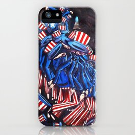 Uncle Sam Descending a Staircase By JAco iPhone Case