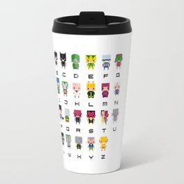 Pixel Supervillain Alphabet 2 Travel Mug