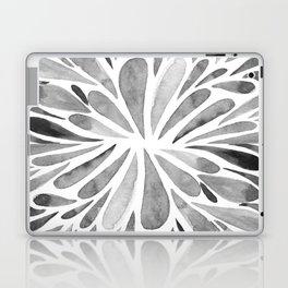 Symmetric drops - black and white Laptop & iPad Skin