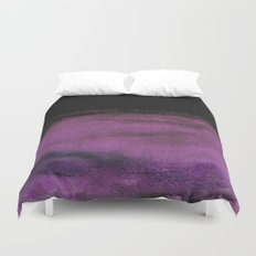 Purple and Black Duvet Cover