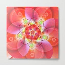 Flower of the Light Metal Print
