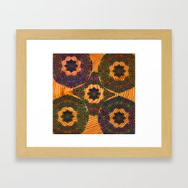 Embroidery on Wood Trippy Texture Framed Art Print